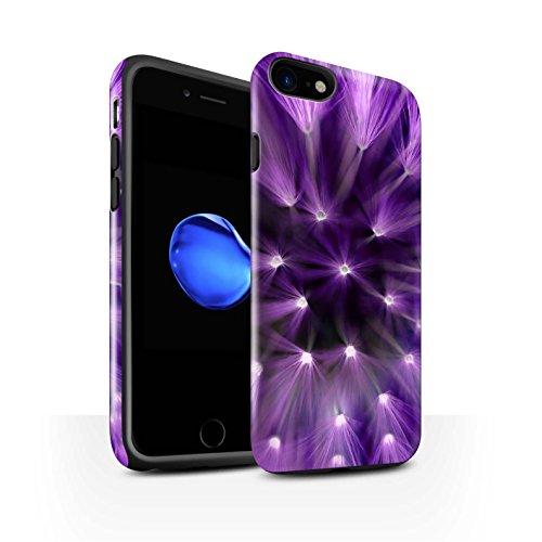STUFF4 Glanz Harten Stoßfest Hülle / Case für Apple iPhone 8 / Lila Muster / Multi Farbe Licht Blume Kollektion Lila