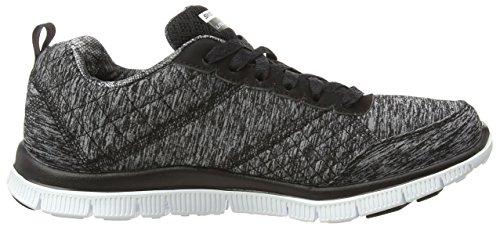 Skechers Flex Appeal Whirlwind, Chaussures de Running Compétition femme Black/Grey