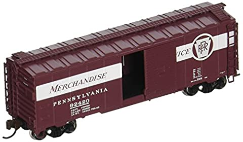 Bachmann Industries Inc. AAR 40' Steel Box Car PRR Merchandise Service - N Scale