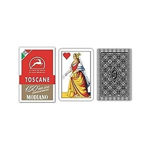 Modiano - regionales Cartas de Juego Toscane Aniversario de los 150 años, Color Estuche Rojo, 300119