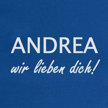 TEXLAB - Andrea Wir lieben Dich - Stoffbeutel Blau