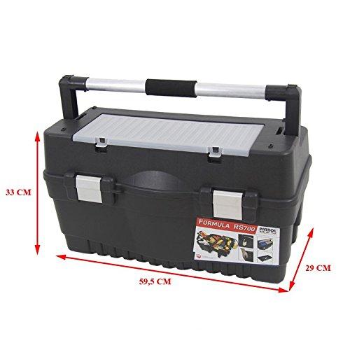 Kunststoff Werkzeugkoffer Formula RS ALU 700 Soft, 59,5x29cm Kasten Werzeugkiste Sortimentskasten Werkzeugkasten Anglerkoffer - 2