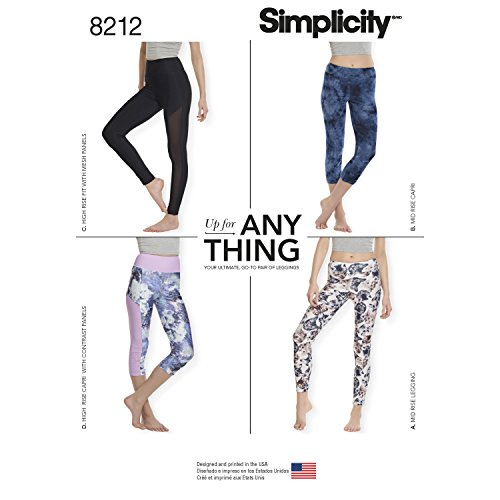 Muster Nähen Leggings (Simplicity Muster 8212Schnittmuster Knit Leggings, Weiß)