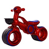 CHRISTMAD Equilibrio para Niños Andadores para Niños Andadores En Bicicleta Rueda De Silencio EVA Extra Ancha | Capacidad De 55 Libras | Edades 1 A 3 Años,Red