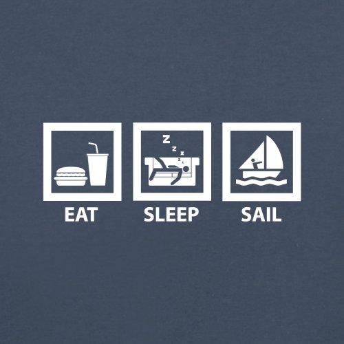 Eat Sleep Sail - Herren T-Shirt - 13 Farben Navy