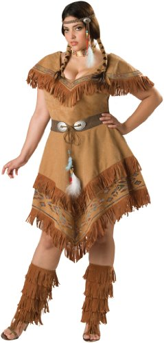 Maiden Kostüm Indian - Indian Maiden Damen-Kostüm Plus
