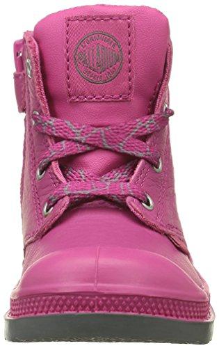 Palladium Pampa Hi Z Vl B, Chaussures Marche Mixte Bébé Rose (F20 Carmine/Metal)