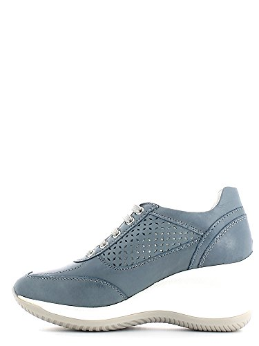 Geox D5275G000CL Sneakers Femme Cuir Bleu - Jean