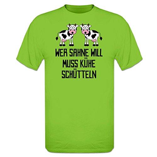 Shirtcity Wer Sahne Will Muss Kühe schütteln T-Shirt