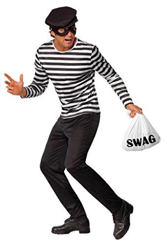 Imagen de smiffy's  disfraz de ladrón para hombre, talla l 38632l