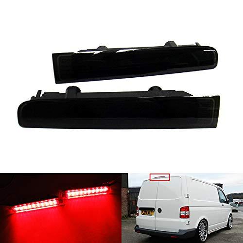 2 x noir Verre fumé LED arrière de porte de Grange Centre de haut niveau Troisième Frein Feu stop gauche droite pour 2003-15 Volks Transporter T5 Caravelle Multivan MK V