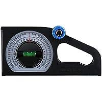 Funnyrunstore Regla de ángulo horizontal multifuncional Instrumento de medida de la pendiente Declinómetro biselado universal de bisel (Tipo: con fuerte magnético)