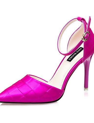 WSS 2016 Chaussures Femme-Mariage / Habillé / Soirée & Evénement-Noir / Violet / Argent / Fuchsia-Talon Aiguille-Talons / Bout Pointu-Talons- fuchsia-us7.5 / eu38 / uk5.5 / cn38
