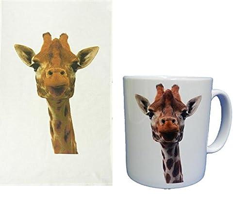 Giraffe Head Tasse and Tea Towel Boxed Gift Set