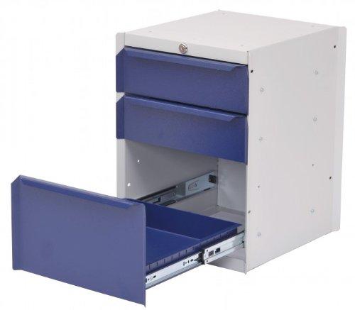 Unterbau-Hänge-Schrank mit 3 Schubladen für Werkbank-Platten