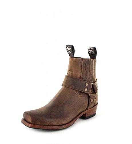 Sendra Boots Damen Herren Biker Boots 8286 Tang Stiefelette Braun 47 EU -