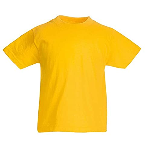 Fruit of the Loom - T-shirt - Garçon - Jaune - Jaune - 5 ans