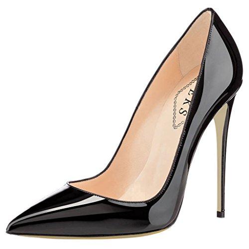 EKS Women's J-053 High Heels Ladies Pointed Toe Shoes Bridal Party Pumps...