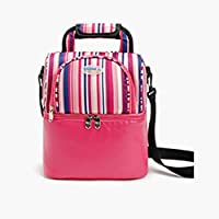 LOUYT Lunch Bags Fashion Portable Food Cooler Picnic Bag for Women Thermal Lunch Box Kids Milk Bag 3 Colors Pink