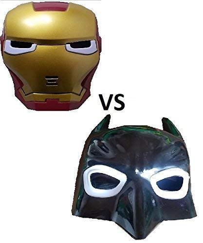 Kostüm Neue Batman - Stück neue Batman und neue Iron Maske mit LED Beleuchtung für Kinder