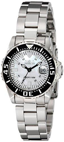 Invicta 2958 Women's Pro Diver Quartz White MOP Dial Stainless Steel Watch