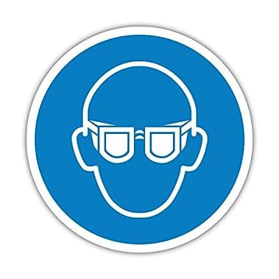 Aufkleber Gebotszeichen Augenschutz benutzen - Schutzbrille tragen 5cm