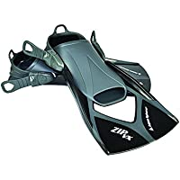 Aqua Sphere Zip VX - Aletas de entrenamiento para natación, color negro, talla Large/Size 10-13