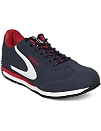 Duke Men's Navy & Red Synthetic & Mesh Sports Shoes - 9