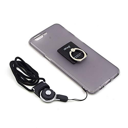 Dulaxie Telefon-Kasten für OnePlus Fünf Metall-Schlüsselanhänger Finger-Ring-Halter-Standplatz Trageband für eine Plus 5 EIN Plus 3T TPU Case [Grau] (Metall Telefon-kasten Iphone 5)