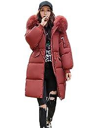 bcdc23340823 FNKDOR Femme Loisirs Épaissi Veste d hiver Chaud Doudounes avec Capuche  Drawstring Longue Parka Manteau