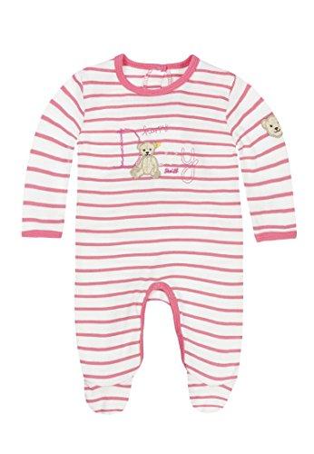 Steiff Baby-Mädchen Strampler 1/1 Arm, Rosa (Hot Pink 2610), 56