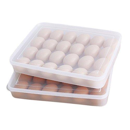 Da.Wa Bandeja de Huevos Contenedor Caja de Almacenamiento Para la Cocina al Aire Libre