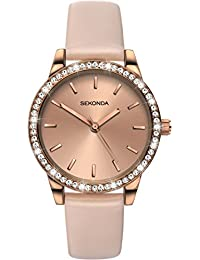 Sekonda Ladies Editions Rose Gold-Plated Pink Strap Watch 2452
