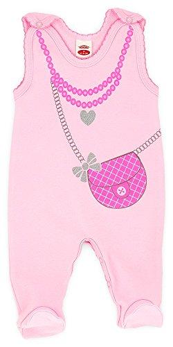 Makoma Baby-Mode Mädchen Strampler mit Fuß Rosa -Kollektion Celebrity- (68)