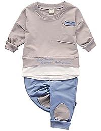 Brightup Bebé Mangas Largas Camiseta Camiseta De Algodón y Pantalones para Niños y Niñas
