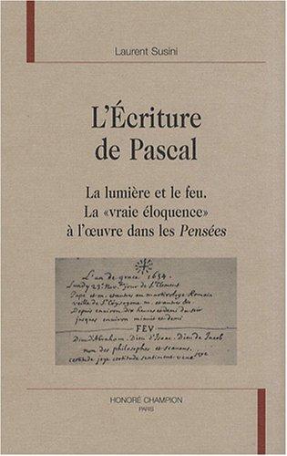 L'écriture de Pascal