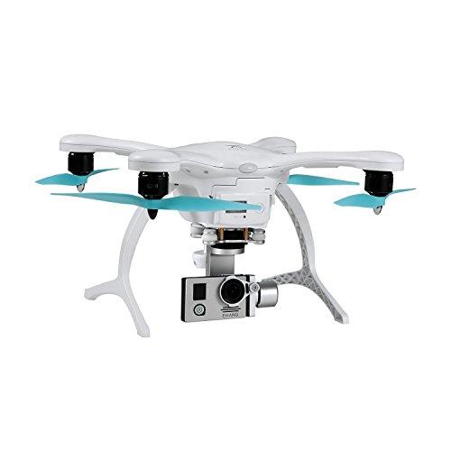 EHANG GHOSTDRONE 2.0 Aerial (iOS u. Android) Profi Quadrocopter Drohne mit Smartphone APP Steuerung, Professionelle Kamera Drohne inkl. 4K Action Cam mit hochpräzisem 3-Achsen Gimbal, weiß/blau
