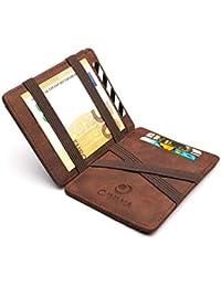 CAVANA Magic Wallet - Geprüfter RFID/NFC Schutz - Schlanke Geldbörse mit Münzfach - Geschenk für Damen und Herren mit Geschenkbox - Erhältlich in 3 Farben