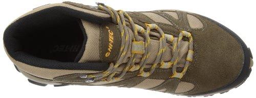 Hi-Tec  Alto Mid WP,  Herren Trekking- und Wanderstiefel Smokey Brown/Gold
