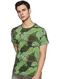 Indian Terrain Men's Floral Regular fit T-Shirt