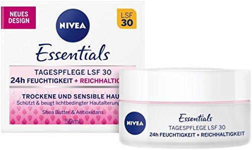 Cuidado diario Nivea Schützende, cuidado facial para piel seca y sensible, 2unidades...