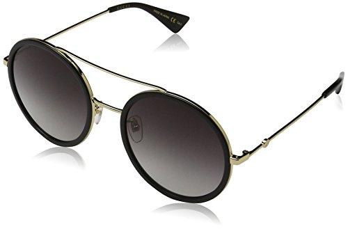 Gucci Damen GG0061S 001 Sonnenbrille, Gold/Grey, 56