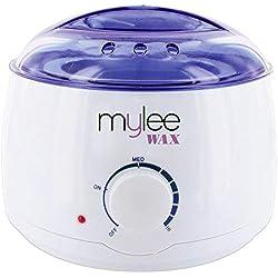 Mylee Chauffe-cire rapide et professionnel pour tout type de cire (dure, molle, paraffine) - Contrôlé thermostatiquement - Température ajustable Wax Heater
