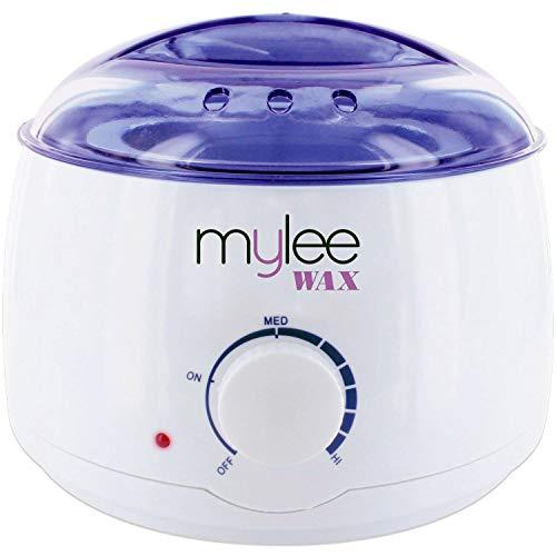 Mylee Calentador de Cera Rápido y Profesional para Tipos de Cera (Dura, Suave, Parafina) Controlado Termostáticamente, con Temperatura Ajustable