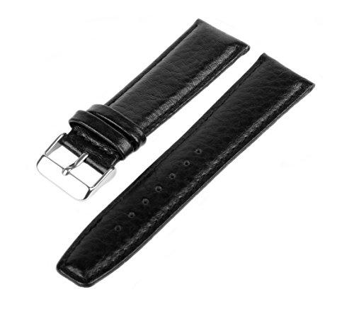 20 mm WB10 Schwarz Genarbt für Armbanduhren ()