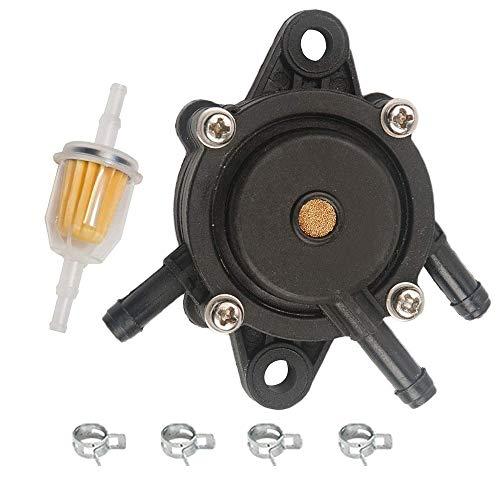 Oxoxo Pompe à essence remplacer pour John Deere L120 L118 La105 La120 amplificateur La115 La130 La140 La150 Z425 + Filtre à carburant pour 253t 25 050 03-S 25 050 08-s 25 050 22-s 25 050 22-s1 Ariens 21541500 John Deere Am116304 Am1163041 Gy20709