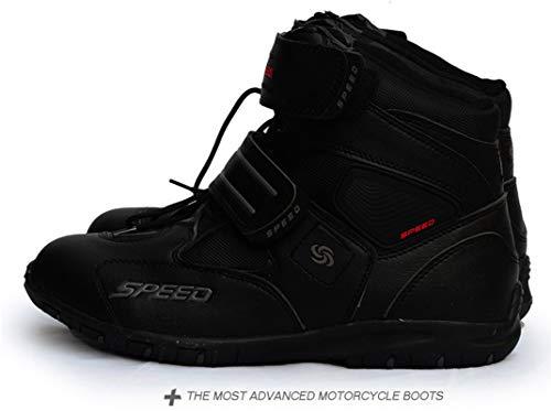 ZZKK wasserdichte Leder-Motorradstiefel Professionelle Motorcross-Racing-Stiefel, Off-Road-Motorradstiefel,40