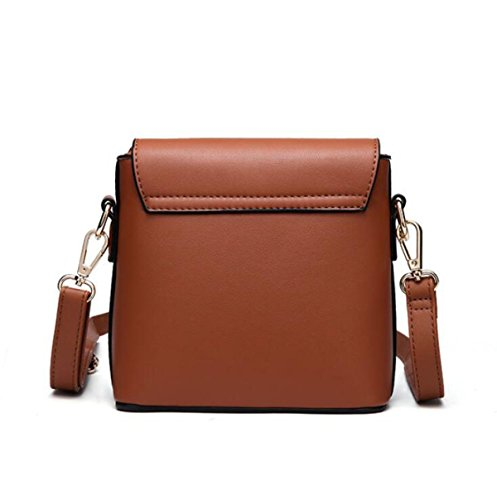 DHFUD Damen PU Schultertasche Handtasche Crossbody Einfache Mini Casual Fashion Red