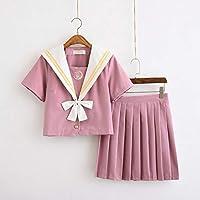FXC - Uniforme escolar para chicas de marinero + corbata + falda, color rosa, ropa para niñas talla grande Lala ropa de animadora