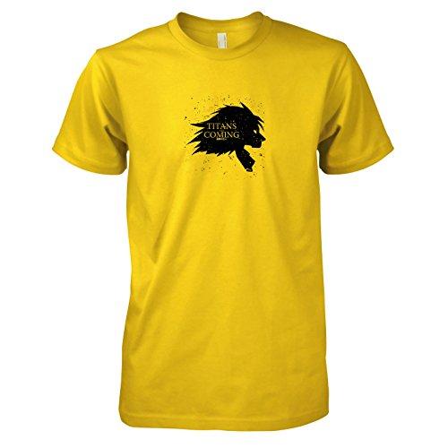 Texlab - Titans Are Coming - Herren T-Shirt, Größe M, Gelb